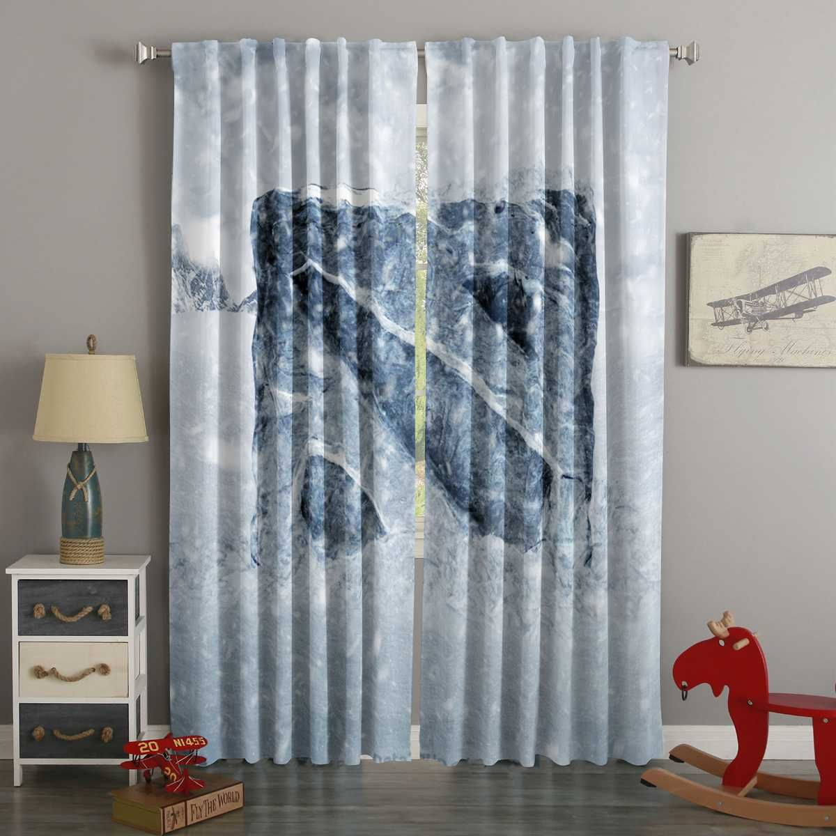 3d Printed Dota2 Style Custom Living Room Curtains Curtains Living Room Curtains Custom Curtains #printed #living #room #curtains