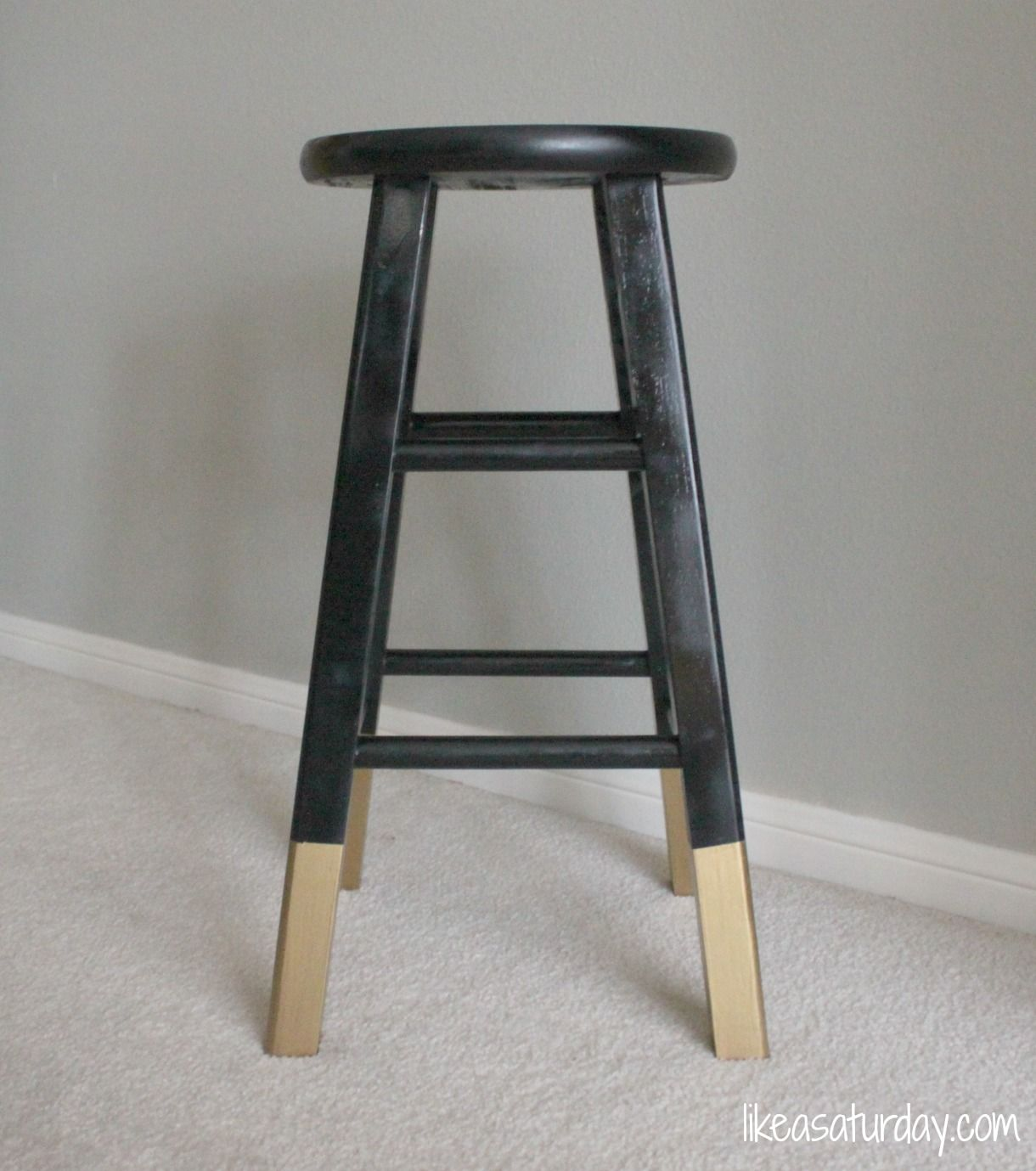 A Little Knick Knack Wooden Bar Stools Dipped Furniture Diy