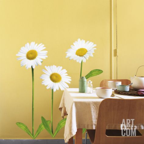 Daisies Wall Decal at Art.com | Decorating Ideas Bathroom ...