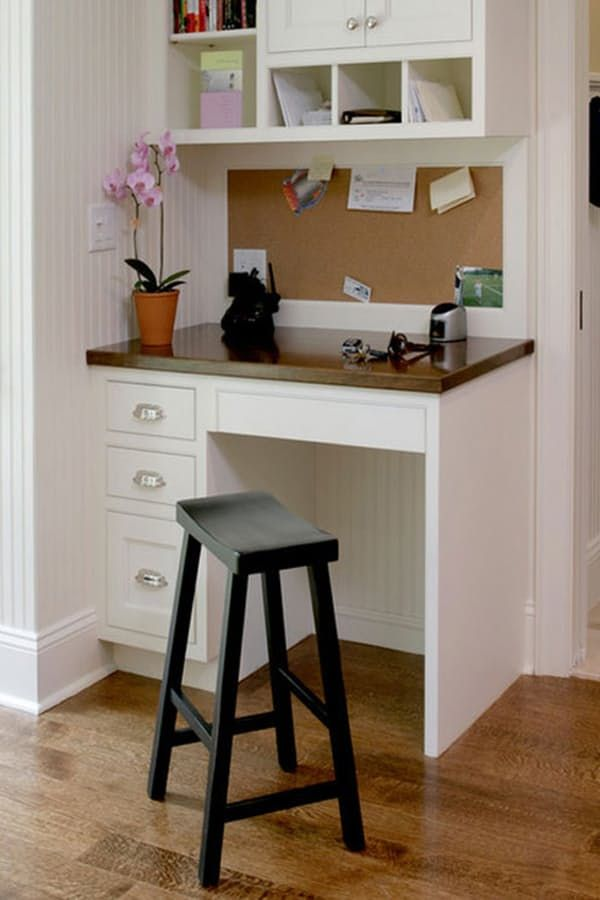 Home Tour Decorating With The New Neutral Kitchen Desk Areas Home Office Design Home