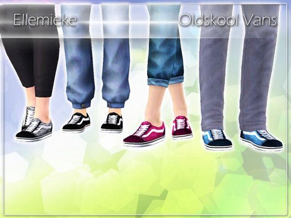 Ellemieke's Oldskool Vans for Adult Men | Sims 4 cc shoes