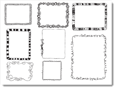 CUTE! Doodle borders for making worksheets | classroom ...