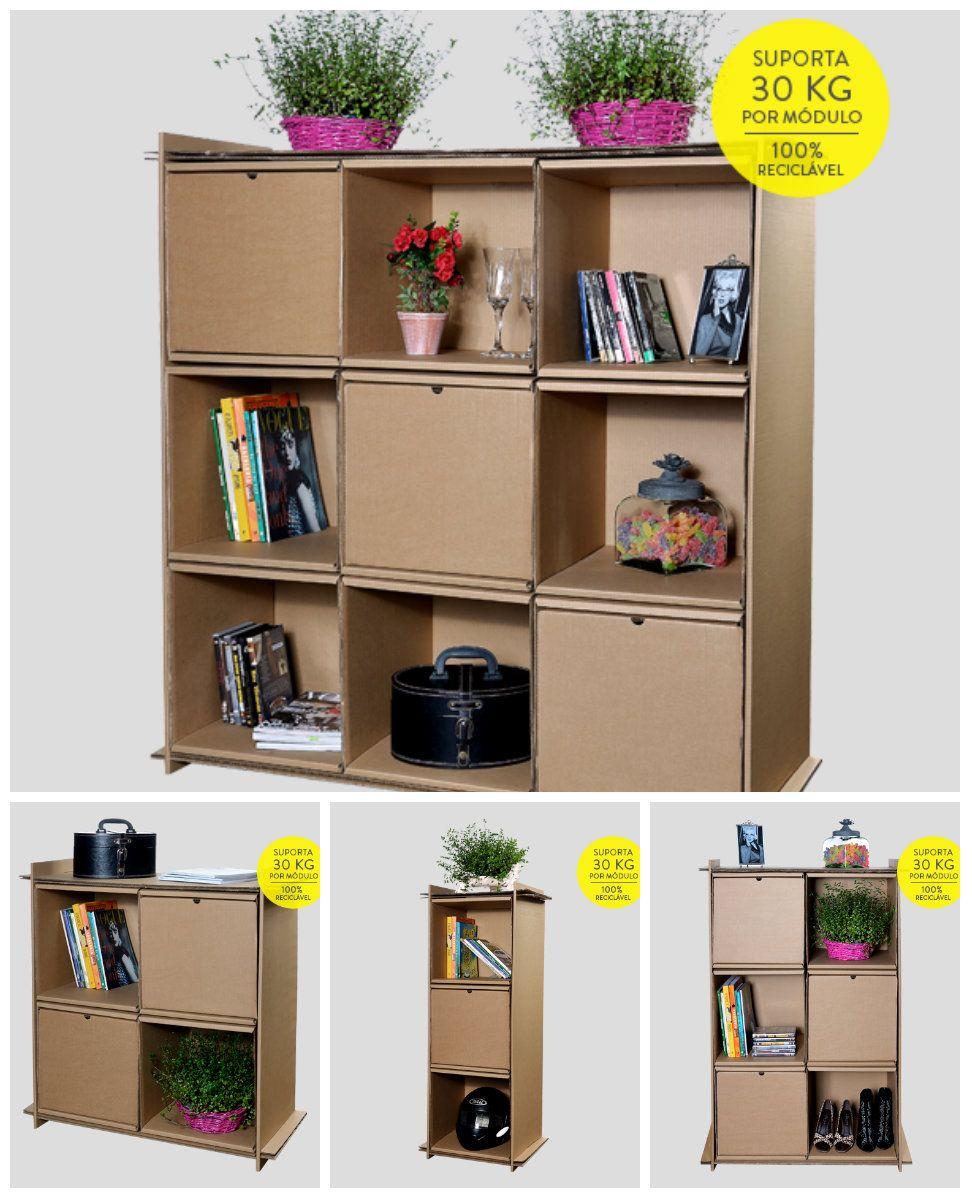 Well-known 15 móveis de papelão para sua casa | Decoration/Crafts-Decoração  JU31