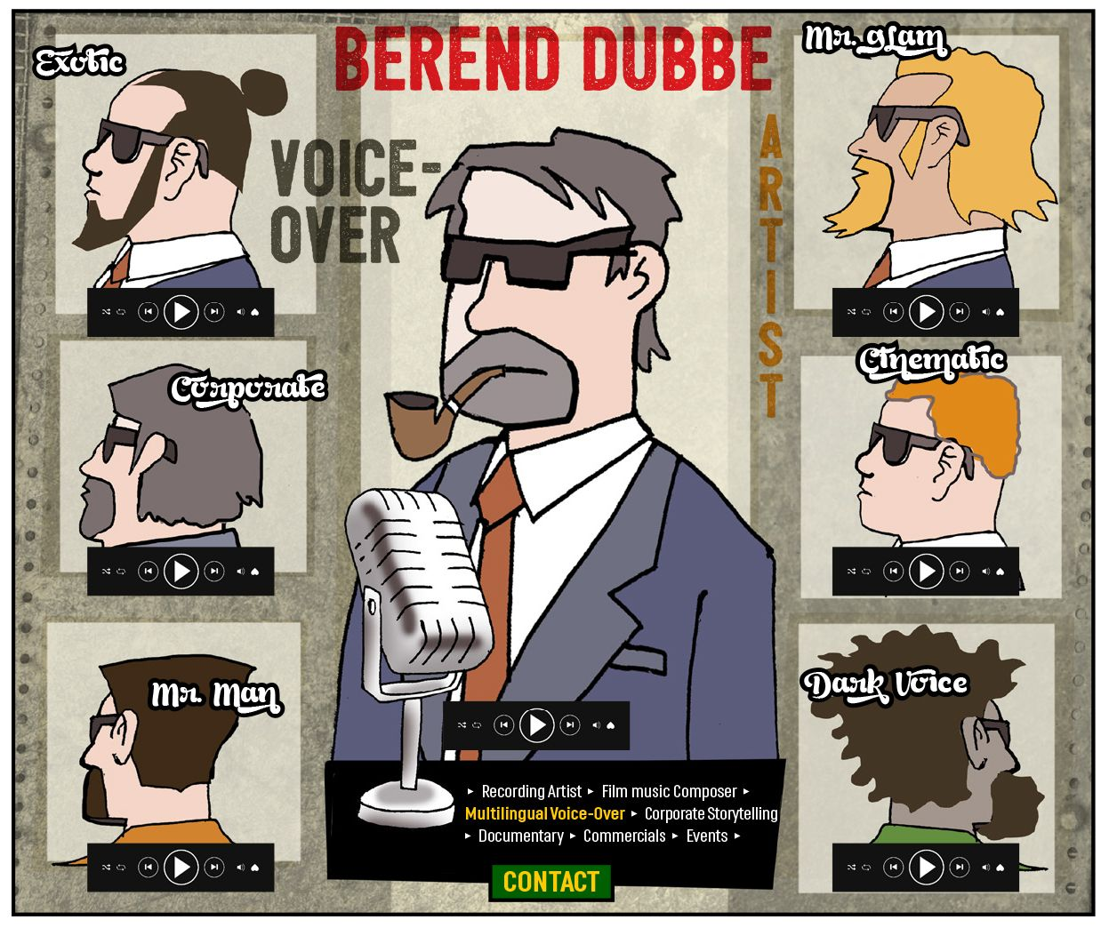 Online design proposal for Berend Dubbe voiceover artist