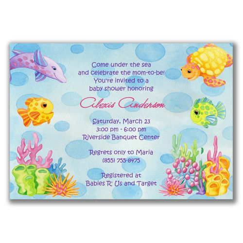 Attractive Under The Sea Baby Shower Invitations