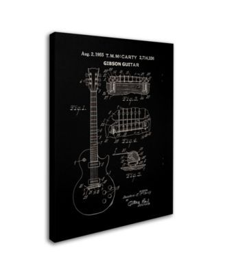 Claire Doherty '1955 Mccarty Gibson Guitar Patent Black' Canvas Art - 24 x 32 - Multi #gibsonguitars