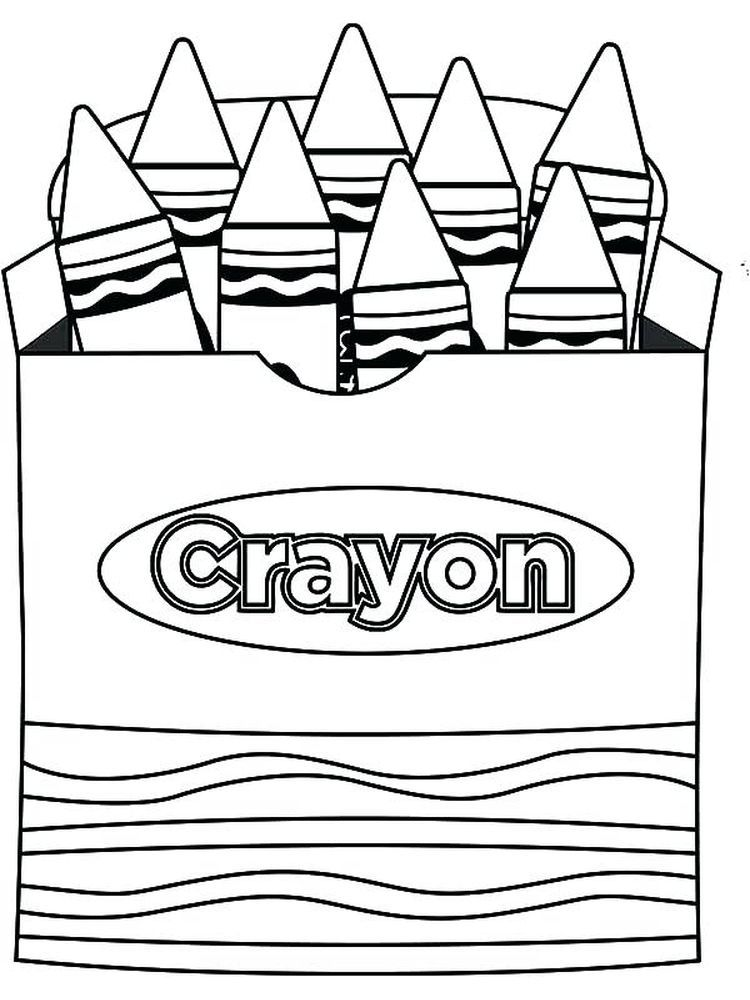 Crayon Coloring Pages To Print In 2020 School Coloring Pages