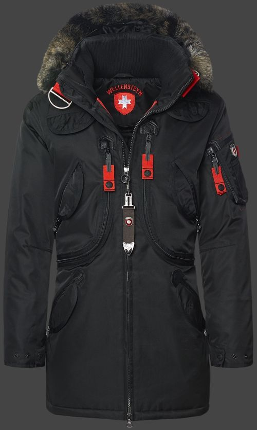 b6326395c294 Wellensteyn Rescue Parka, RainbowAirTec, Schwarz   Clothing ...
