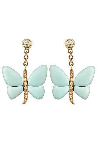 pendientes forma de mariposa
