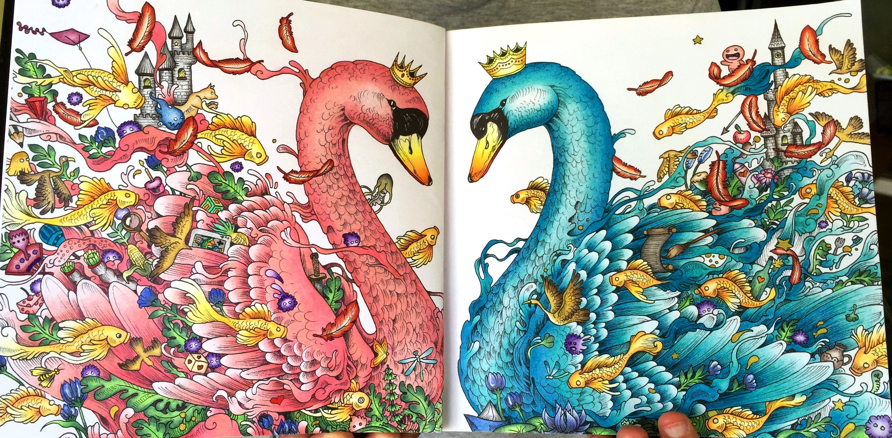 From Animorphia Colored With Faber Castell Polychomos Imagimorphia KerbyRosanes Polychromos Coloring BooksAdult