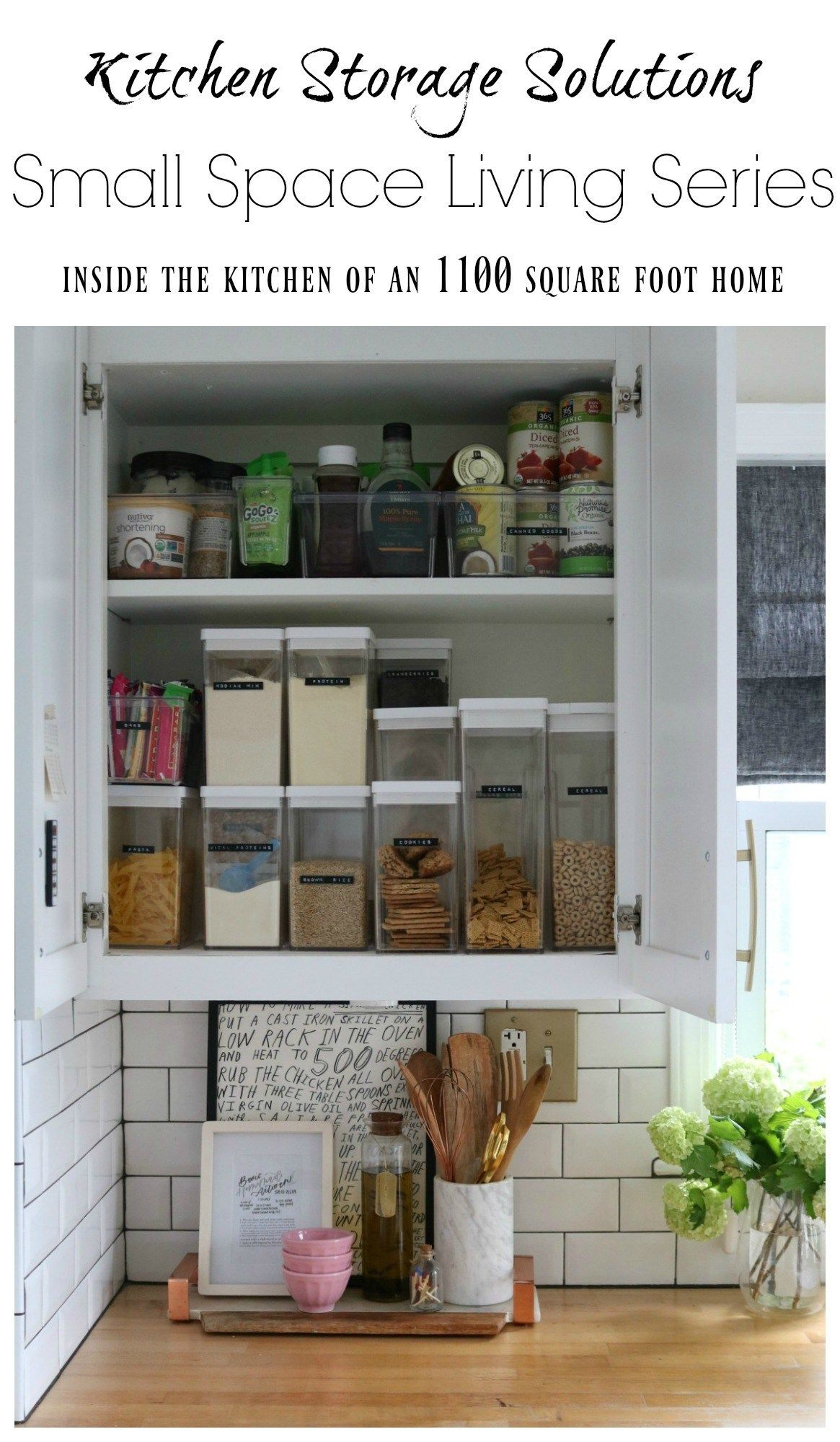Small Space Living Series- Kitchen Cabinets and Organizing Tips - Nesting With Grace