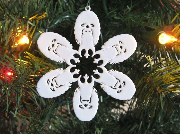 snowflake chewbacca head ornament by kimotion - Chewbacca Christmas Ornament