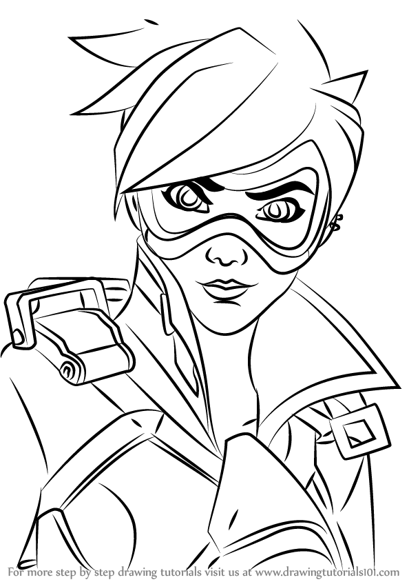 Overwatch genji coloring pages coloring pages drawing for Overwatch coloring pages