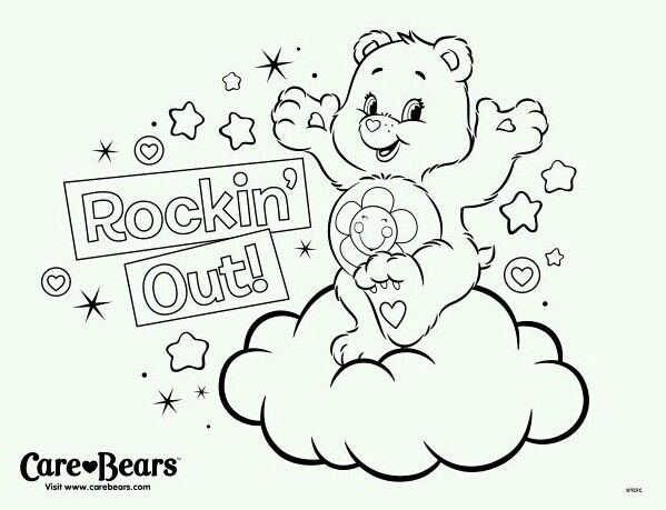 Pin By Care Bears World On Care Bear Harmony Bear Love Coloring Pages Unicorn Coloring Pages Bear Coloring Pages