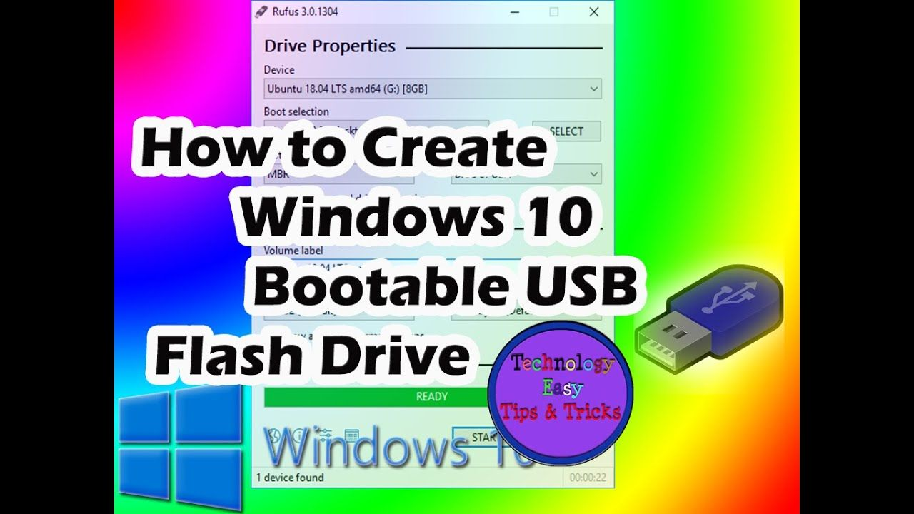 How To Make A Windows 10 Bootable Usb Flash Drive 2018 Usb Usb Flash Drive How To Make