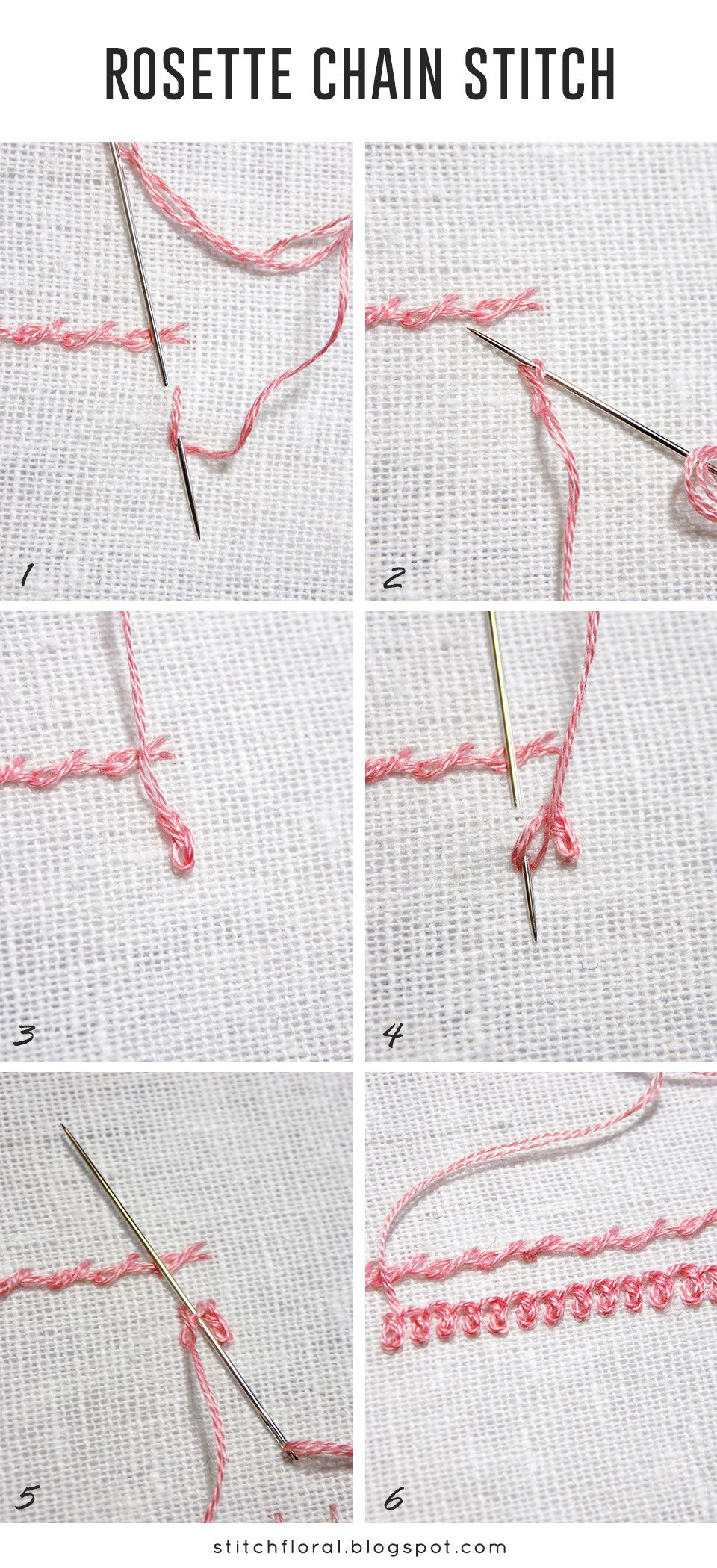 Chain Stitch Embroidery : chain, stitch, embroidery, Rosette, Chain, Stitch, Tutorial,, Embroidery, Stitches,, Stitching, Techniques,, Tutorials