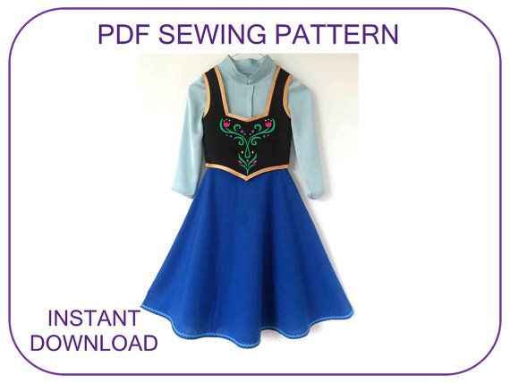 PDF sewing pattern for Frozen Anna bodice blouse by ViaFUNICOLARE ...