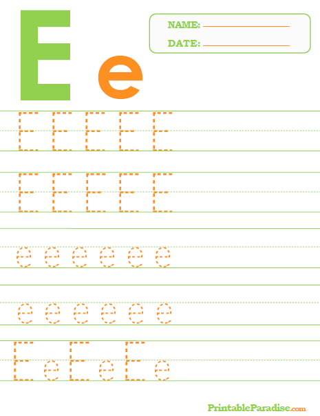 Printable Letter E Tracing Worksheet Abc Letter Tracing