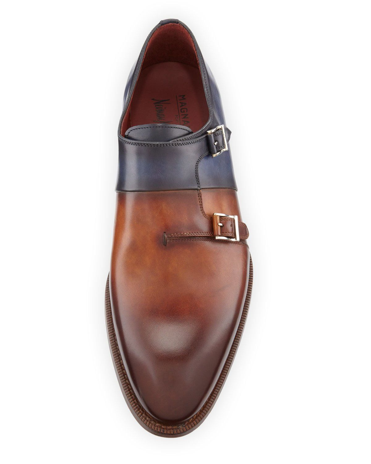 45e10623fa1 Two-Tone Leather Double-Monk Shoe | Products in 2019 | Shoes, Neiman ...