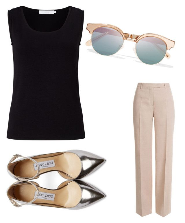 """Untitled #4002"" by ohnadine on Polyvore featuring Emilio Pucci, John Lewis, Jimmy Choo and Le Specs"