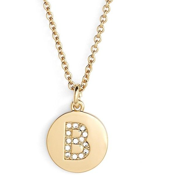 Kate spade new york pave letter pendant necklace 68 liked on kate spade new york pave letter pendant necklace 68 liked on polyvore featuring aloadofball Images
