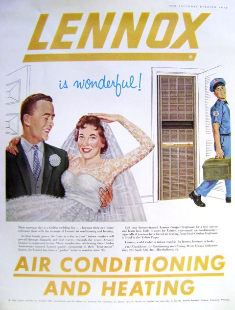 Old Lennox Wedding Couple Ad Funny Since My Dad Is An Hvac Tech