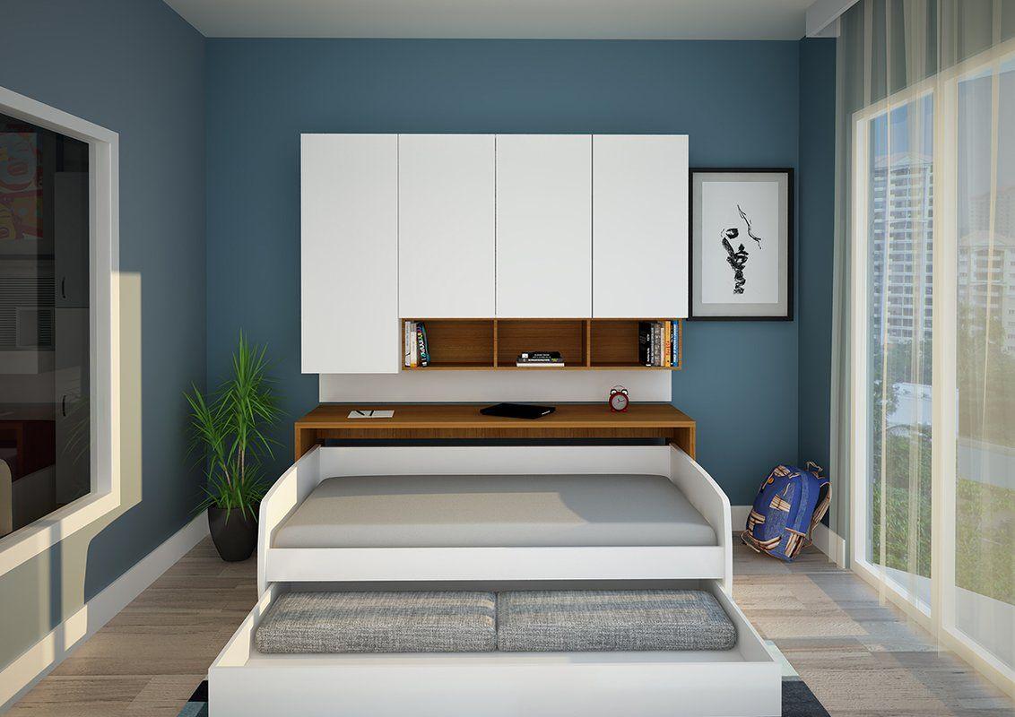 Gautreau Compact Twin Murphy Bed Murphy bed, Sofa bed