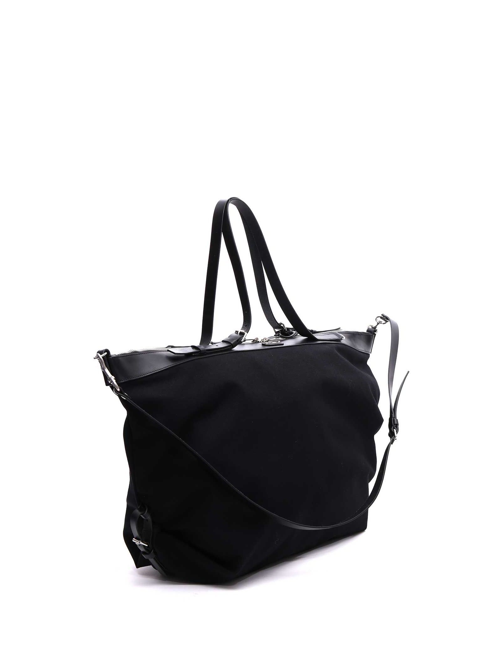 206f2b1ee6 Black canvas Large ID convertible bag from Saint Laurent | Stylish ...