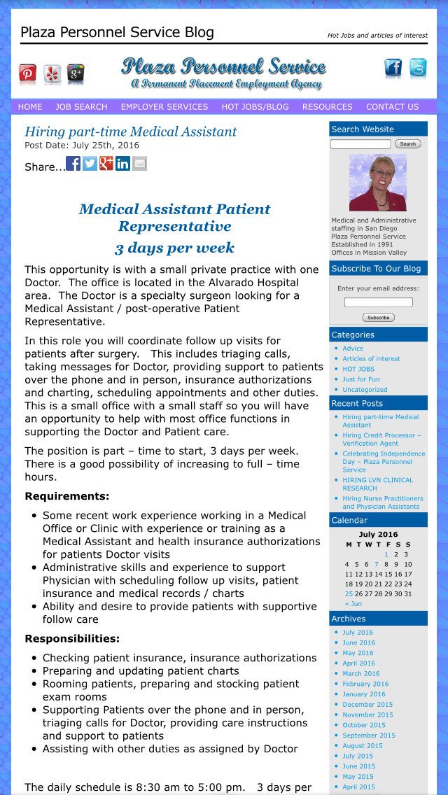 A Rare Opportunity For An Entry Level Medical Assistant Its Part