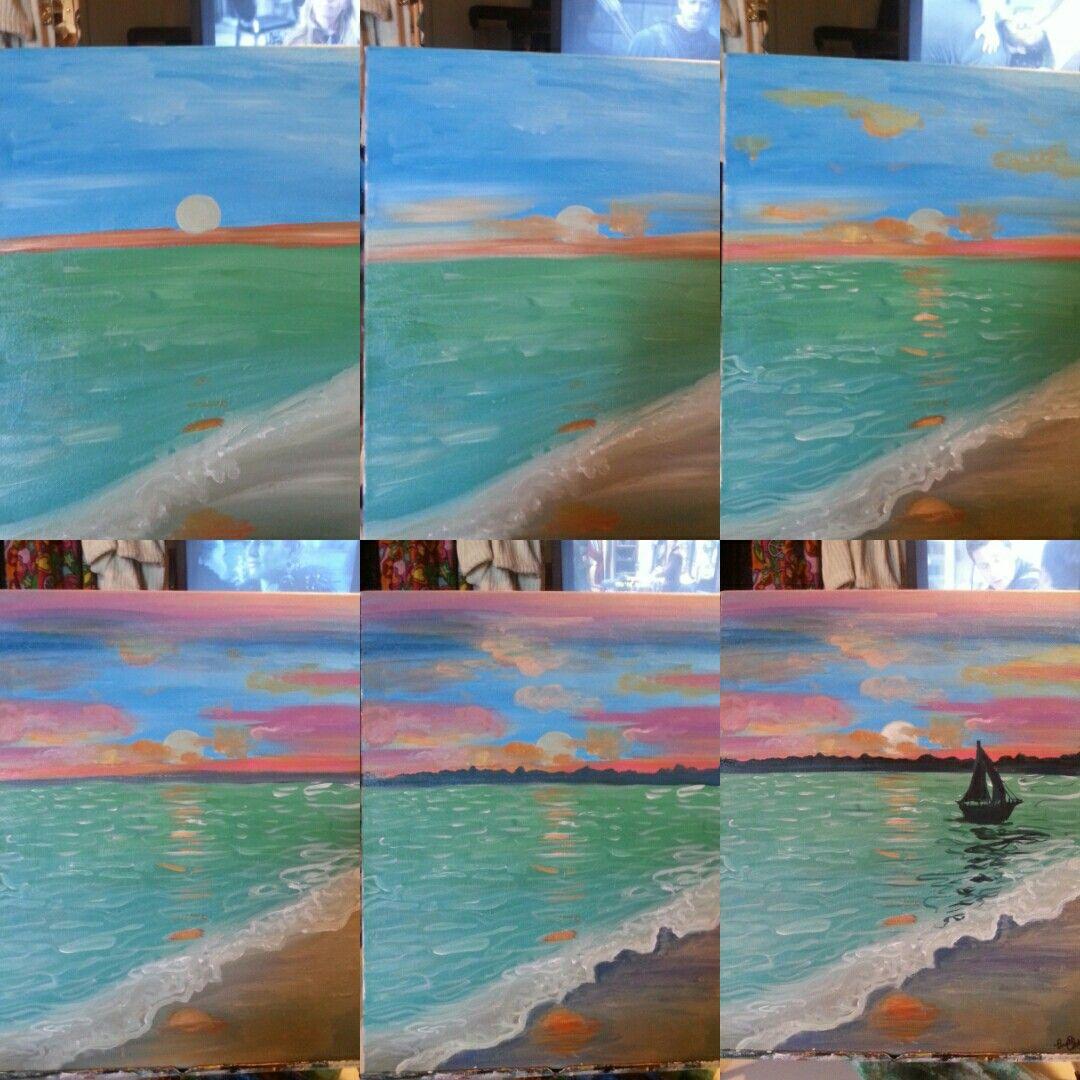 In Decent Seas Beginner Painting Painting Canvas Painting Diy