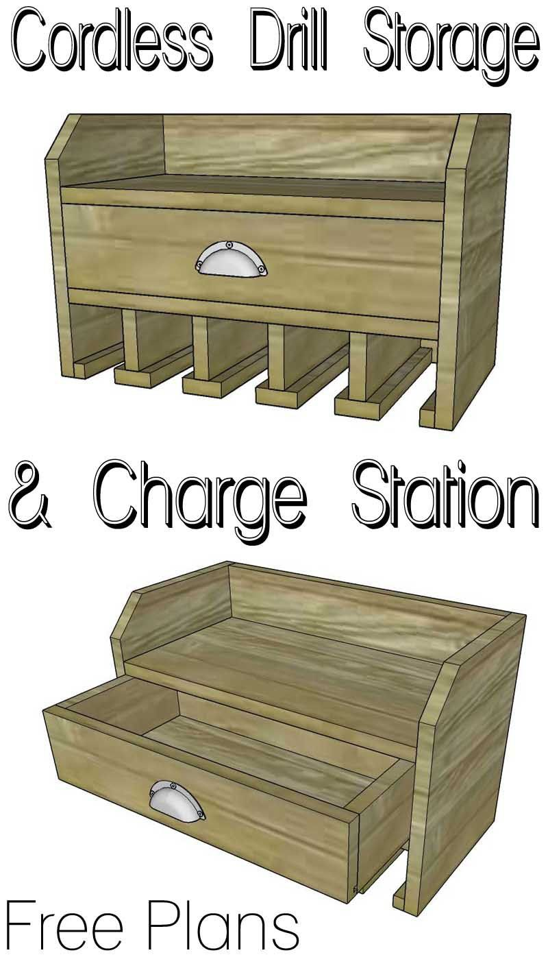 Cordless Drill Storage Charging Station Garage