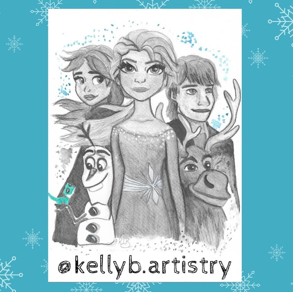 Latest Pencil Print Of My Frozen 2 Sketch To Get Yours Dm Anna