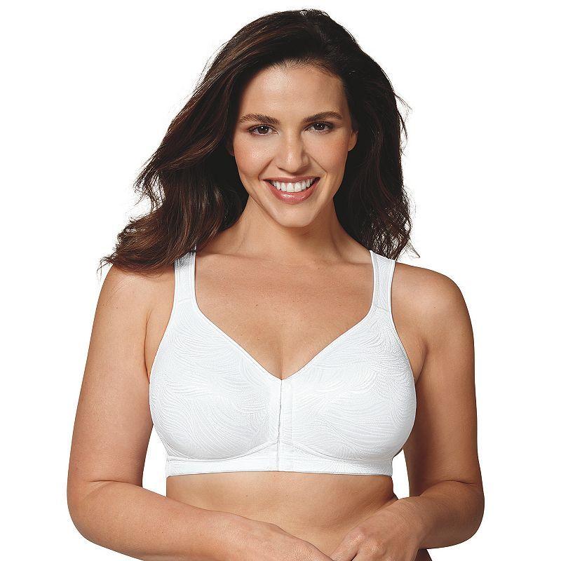e7e4d3f32ba9 Plus Size Playtex Bras: 18 Hour Posture Boost Full-Figure Wire Free Front  Closure Bra USE525, Women's, Size: 40 C, White