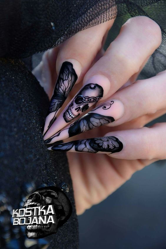 Are you looking for easy Halloween nail art designs for October for  Halloween party? See our collection full of easy Halloween nail art designs  ideas and ... - 60 Easy Halloween Nail Art Designs For October Nails Pinterest