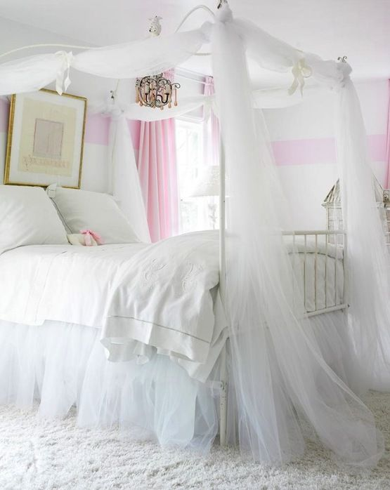 Canopy Bed Curtains Girls Big Girl Bedrooms Shabby Chic Bedroom