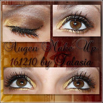 Eye Make Up - Datum: 16.12.10  http://talasia.blogspot.de/2011/01/amu-weihnachtsfeier.html