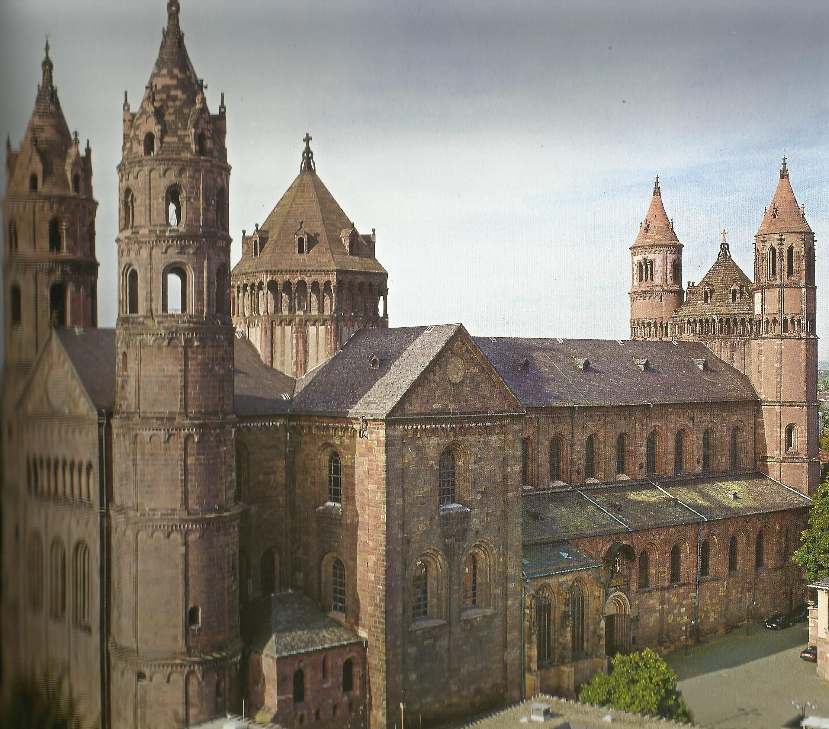 Architekt Worms Worms Cathedral Germany Northwest View A Great Example