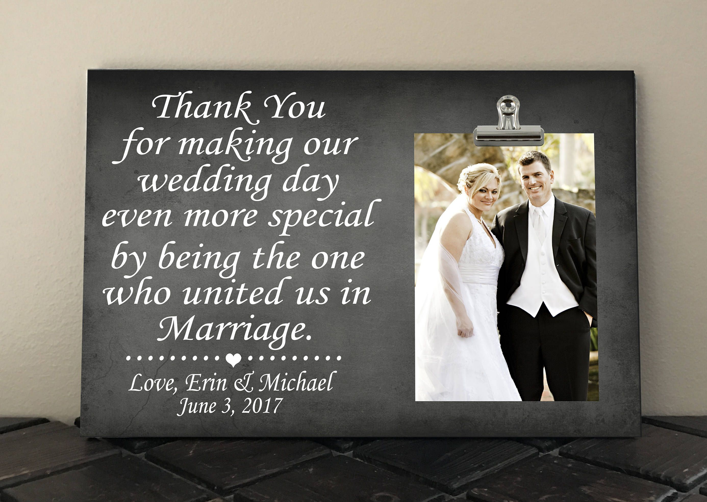 Free Personalization, WEDDING OFFICIANT GIFT, Thank You