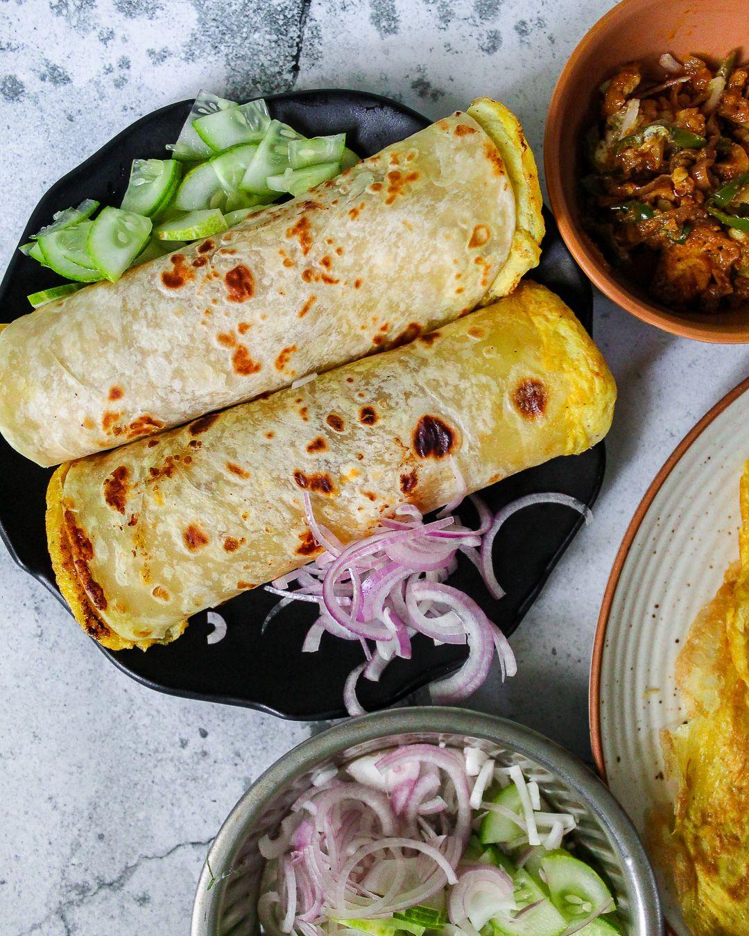 kolkata kathi roll recipe  recipe in 2020  kathi roll