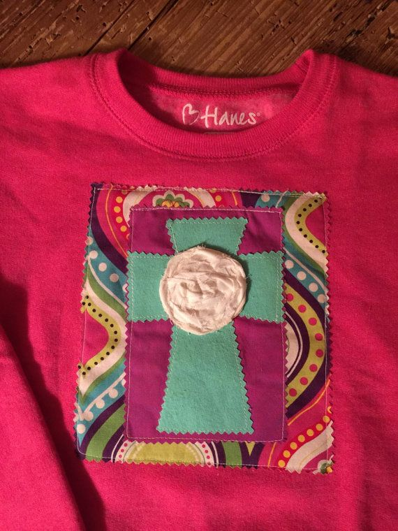 trendy cross applique sweatshirt by aprilleighoriginals on Etsy