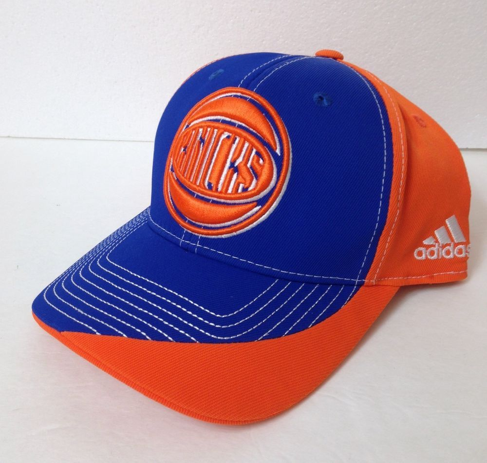 outlet store d7a28 58c74 ADIDAS NEW YORK KNICKS HAT dry fit curve bill snapback orange blue men women  cap  adidas  NewYorkKnicks