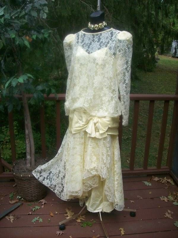 Vintage 80s Plus Size Xxl Prom Party Dress Gatsby Style Rare 80s