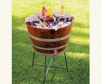 Wine Barrel Ice Cooler They Sell These Without The Spicket Or Lid