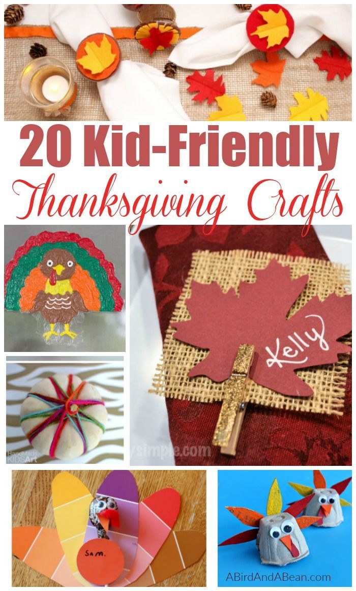 Easy Thanksgiving Craft Ideas For Kids Part - 19: 20 Easy Thanksgiving Crafts For Kids