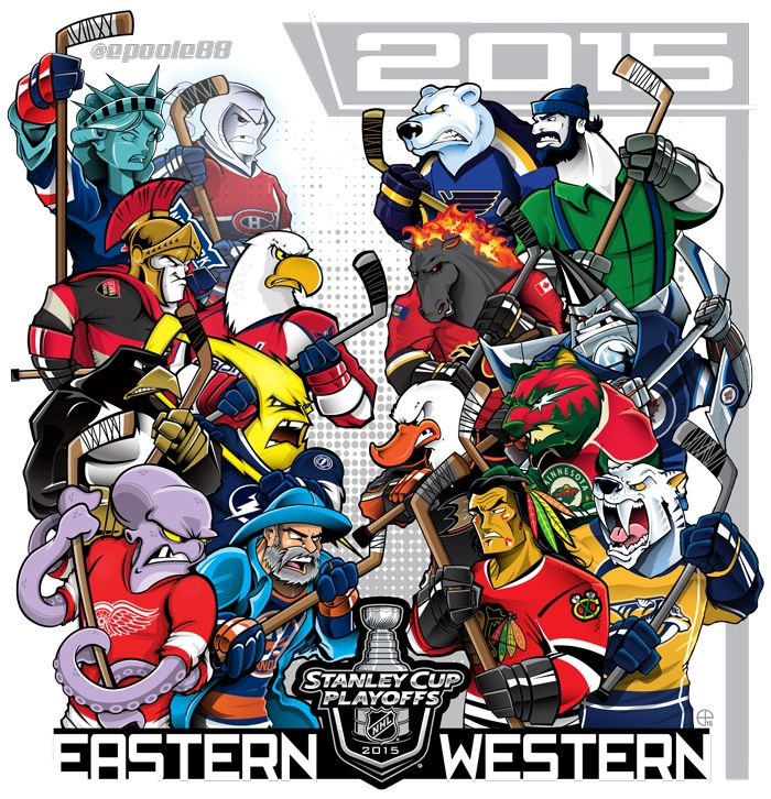 Stanley Cup Playoffs…Starting tonight!  What can I say, I'm a sucker for mash-ups…
