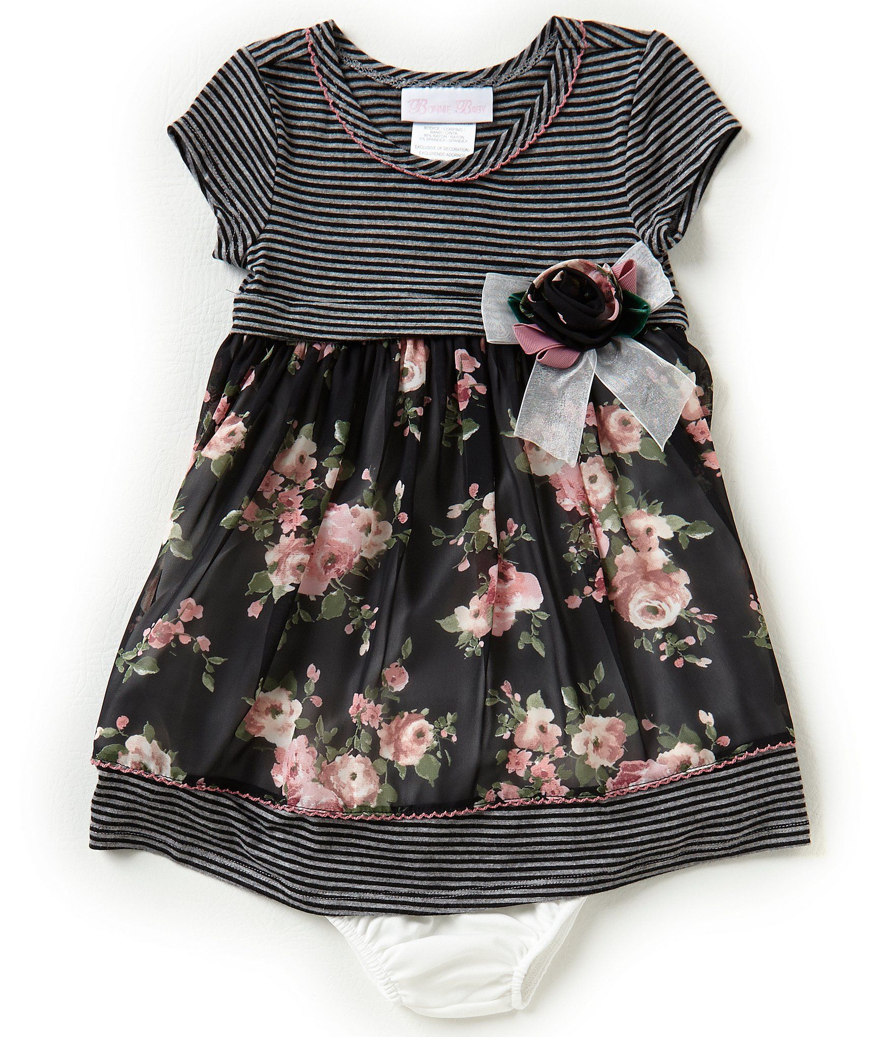 Shop for Bonnie Baby Baby Girls Newborn 24 Months Striped Floral A