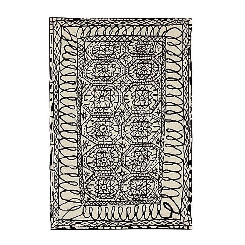 Black On White Estambul Wollteppich Boho Chic Pinterest