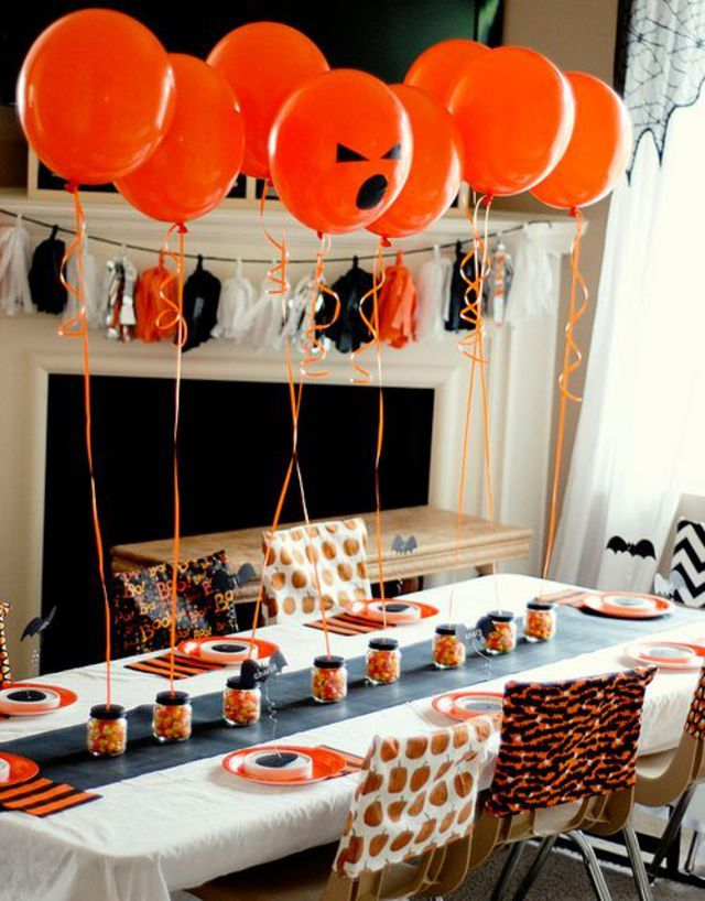 Pinterest d coration de table pour halloween c t for Deco maison halloween