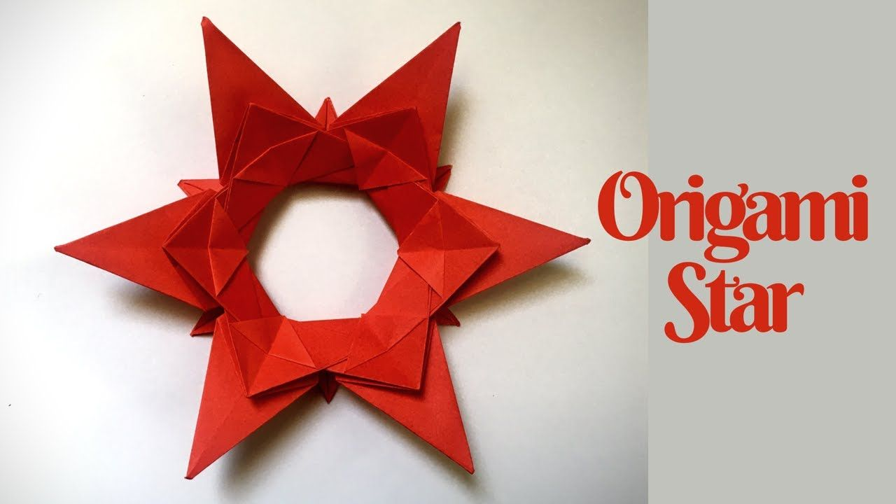 How to make a 3D paper star - Easy origami stars for beginners ... | 720x1280