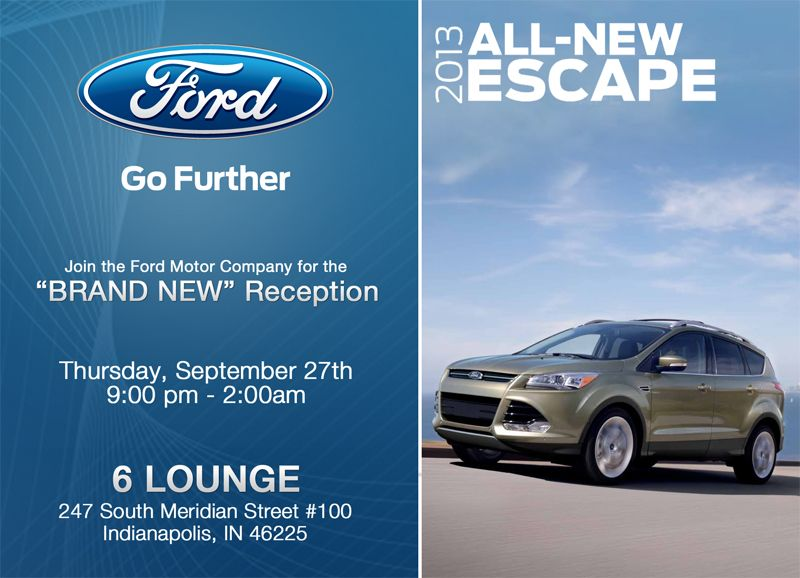Ford Event Flyer Promo Ford Motor Company Ford Motor Ford Escape